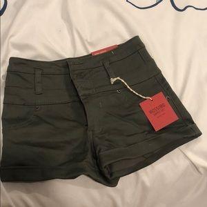 High Rise Short Shorts